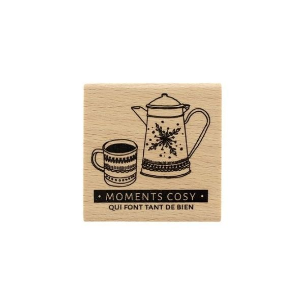 Sello de madera so cosy 1 Florileges design | Marakiscrap.com