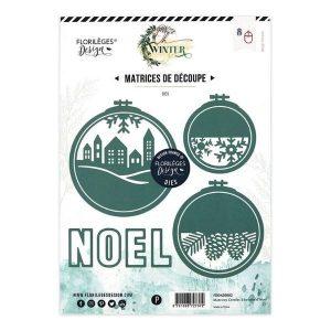 Troquel cercles a brodes d hiver Florileges Design | Marakiscrap.com