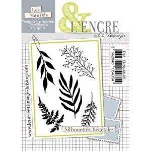 sello acrilico silhouettes vegetales l encre et l image | Marakiscrap.com
