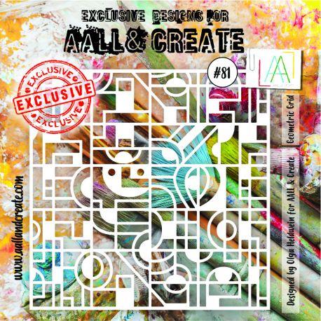 stencil 081 aall and create | Marakiscrap.com
