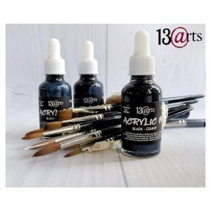 Acrylic ink negra 13 arts | Marakiscrap.com