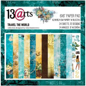 Coleccion de papeles 6x6 Travel the World 13 arts