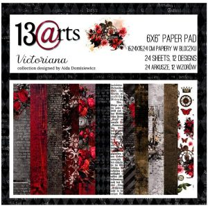 Coleccion de papeles 6x6 Victoriana 13 arts