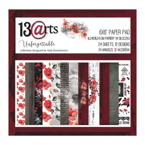 Kit de papeles 15 x 15 unforgettable 13 arts | Marakiscrap.com