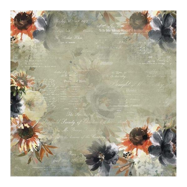 papel estampado 6x6 flores
