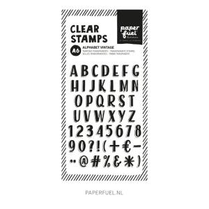 Sello acrilico Alphabet Vintage Paper Fuel