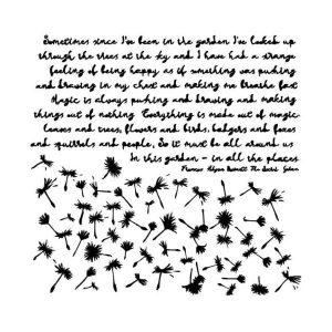 Stencil 15x15 dandelions 13 arts
