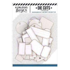 Die Cuts Etiquettes Beige Lin N15 Florileges Design | Marakiscrap.com