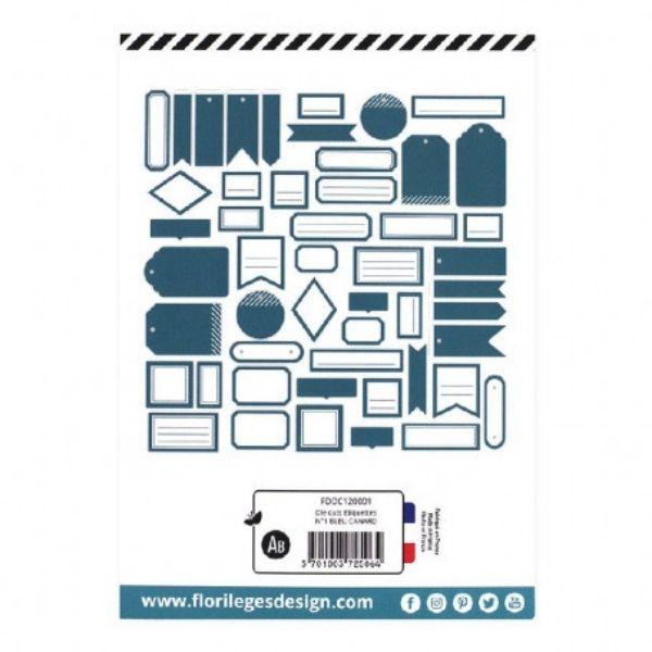 Die Cuts Etiquettes Bleu Canard N1 Florileges Design2   Marakiscrap.com