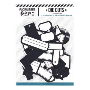 Die Cuts Etiquettes Bleu Nuit N11 Florileges Design | Marakiscrap.com