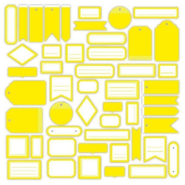 Die Cuts Etiquettes Jaune Soleil N3 Florileges Design2   Marakiscrap.com