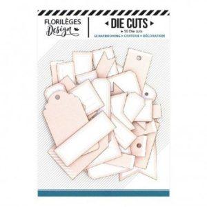 Die Cuts Etiquettes Rose Péche N14 Florileges Design | Marakiscrap.com