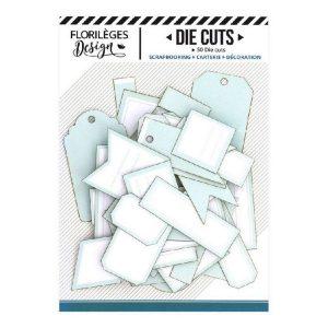 Die Cuts Etiquettes Vert Deau N13 Florileges Design | Marakiscrap.com