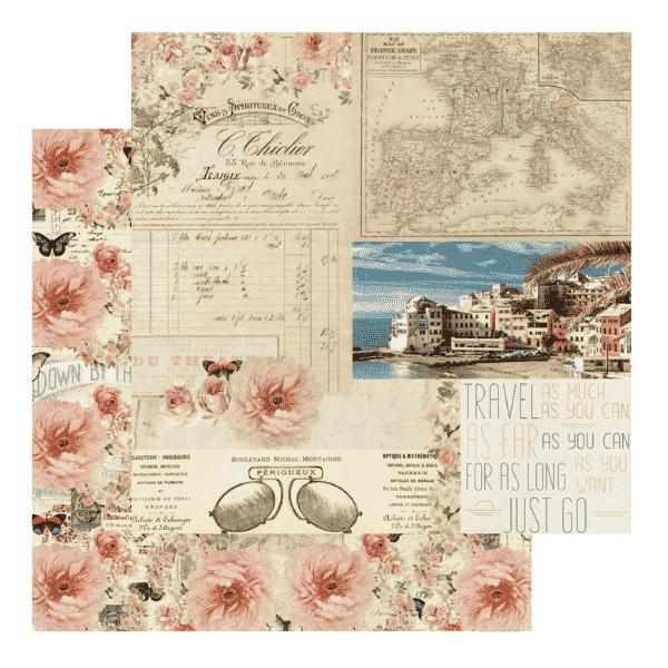 Papel Estampado Punta del Monaco Capri Collection Prima Marketing | Marakiscrap.com