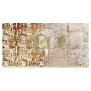 Papel Estampado Recogedores de Setas Bosque de Otoño Ecopaper | Marakiscrap.com