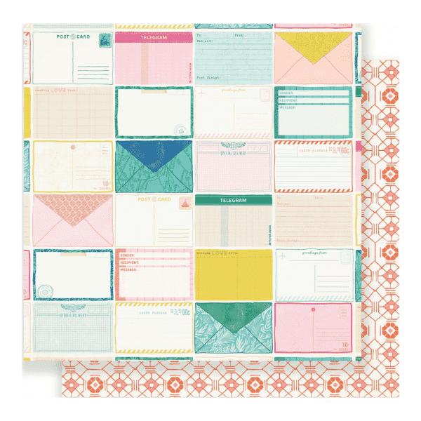 Papel de Scrap Postcards Here and There Crate Paper   Marakiscrap.com
