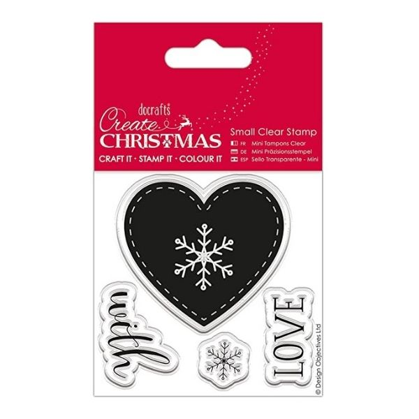 Sello Acrílico Heart Create Christmas Docrafts | Marakiscrap.com