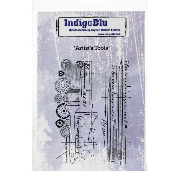 Sello Caucho Artists Tools Indigo Blu | Marakiscrap.com