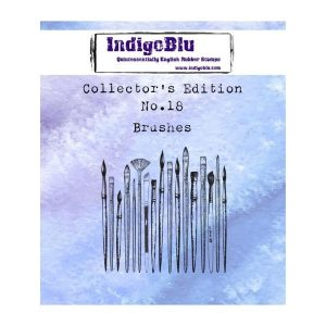 Sello Caucho Brushes N18 Collectors Edition Indigo Blu | Marakiscrap.com