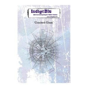 Sello Caucho Cracked Glass Indigo Blu | Marakiscrap.com