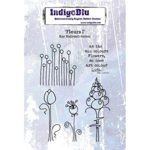 Sello Caucho Fleurs I Indigo Blu | Marakiscrap.com