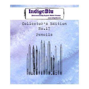 Sello Caucho Pencils N17 Collectors Edition Indigo Blu | Marakiscrap.com