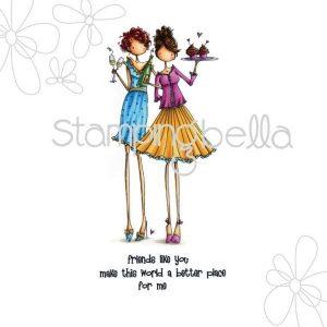Sello Caucho Uptown Girls Collection Stampingbella | Marakiscrap.com