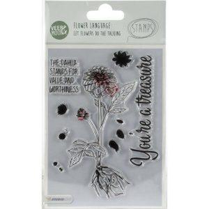Sellos Acrílicos Dahlia Veer and Moon Flower Language Studio Light | Marakiscrap.com