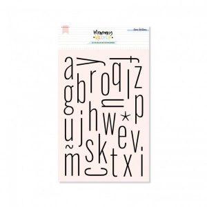 Set de Sellos Acrílicos Alfabeto Thin Lora Bailora | Marakiscrap.com