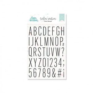 Set de Sellos Acrilicos Alfabeto Thin Mayúsculas Lora Bailora | Marakiscrap.com