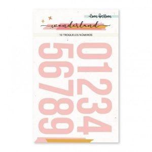 Troquel de Números Wonderland Lora Bailora | Marakiscrap.com