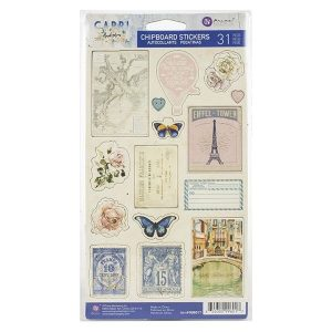 Chipboards Stickers Capri Collection Prima Marketing | Marakiscrap.com