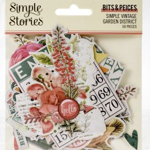 Die Cuts Simple Vintage Garden District Simple Stories | Marakiscrap.com