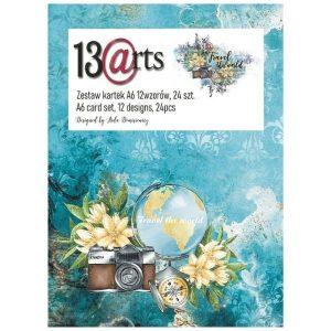 Kit de papeles A6 Travel the World 13 arts | Marakiscrap.com