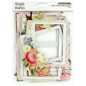 Layered Frames Simple Vintage Garden Distric Simple Stories | Marakiscrap.com