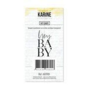 Sello Acrílico Hey Baby Les Ateliers de Karine | Marakiscrap.com