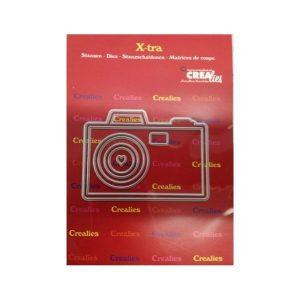 Troquel Camera Middle X-tra Crealies | Marakiscrap.com