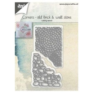 Troquel Old Brick Wall Stone Corners Joy Crafts | Marakiscrap.com