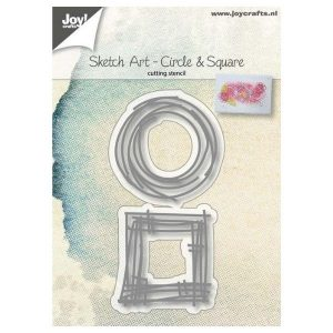 Troquel Sketch Art Circle and Square Joy Crafts | Marakiscrap.com