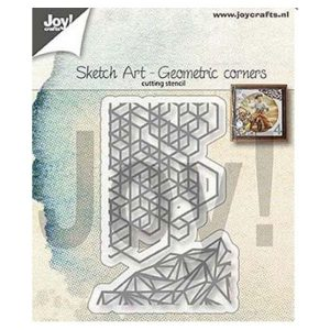 Troquel Sketch Art Geometric Corners Joy Crafts | Marakiscrap.com