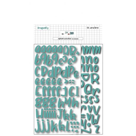 alfabeto adhesivo foam turquoise thickers
