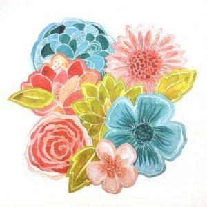 die cuts fleurs le jardin de manuela
