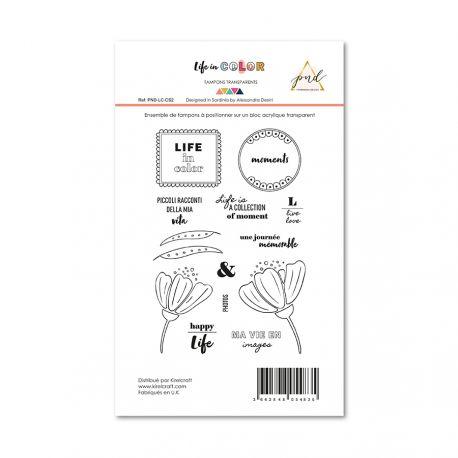 Sellos acrílicos life in color papernova design