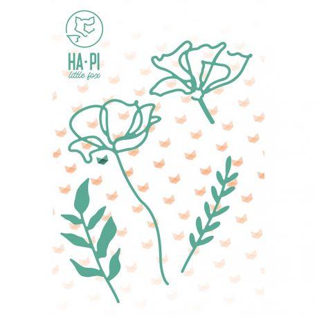 Troqueles fleurs et feuillages