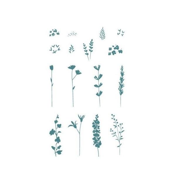 sello de caucho essential flower set
