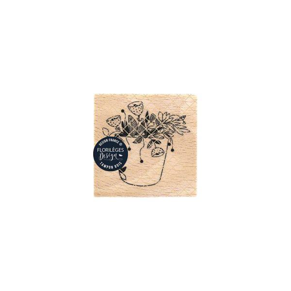 sello de madera fantaisies florales