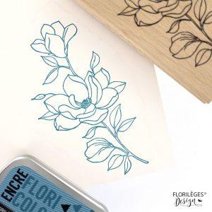 sello de madera fleur et boutons