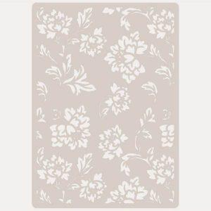 stencil fondo floral
