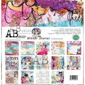 coleccion de papeles glitter stories ab studio