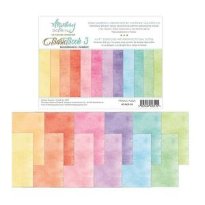 papeles estampados basic book rainbow mintay